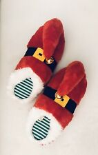 Adult Red Santa/Elf Slippers Size L/Xl DanDee Collector's Choice