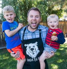 Papa Bear Apron Father's Day Fun BBQ Gift for Grandpa or Dad by ApronMen