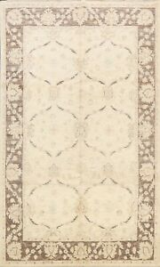 Muted Floral Peshawar Oriental Hand-knotted Area Rug Classic Wool Home Decor 6x9