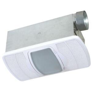 Air King Ceiling Bath Exhaust Fan 70 CFM Light Heater Galvanized Steel White