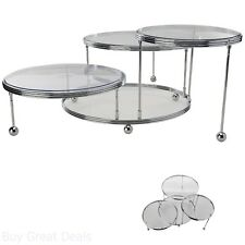 3 Tier Cakes and Cupcake Stand Chrome Plated Finish and Clear Plate Wilton