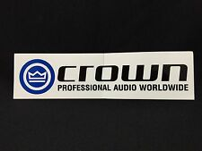 New Crown Professional Audio Worldwide White Bumper Logo Sticker Decal FS