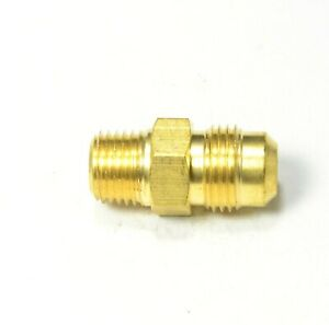 3/8 Male flare Sae 45 to 1/4 Male Npt Straight Adapter Fitting LNG Gas Propane