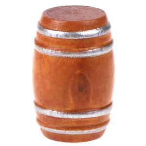1:12 Dollhouse Miniature Mini Wooden Beer Barrel House Decoration HFUK
