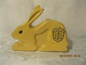Uhl Pottery Collector's Society 2003 Yellow Rabbit AcornWare Huntingburg Indiana