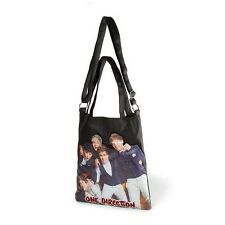 One Direction Crossbody Tote Bag 1D Black Group Photo Harry, Niall, Zayn - NWT