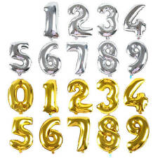 1pcs 40cm Cute Silver Numbers Letters  Foil Balloons Birthday Decoration Ballon