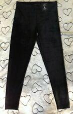 Legging pantacourt velours noir court M&S taille 38 NEUF