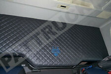 Truck Bed Cover Compatibles avec Volvo FH4 2013+ eco cuir noir & bleu Stitches