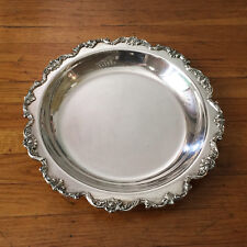 """Wallace ROYAL ROSE Silverplate Shallow 14"""" Serving Bowl 9822 - HARD TO FIND!"""