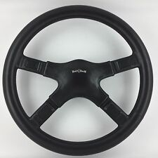 Italvolanti Prestige 380mm black leather steering wheel. Genuine. Truly superb!