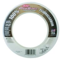 Berkley ProSpec 100% Fluorocarbon Leader Material Fishing Line Clear & Invisible
