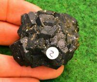 Melanite Black Garnet Andradite Crystal Red Gemstone Natural UKBUY✔ 110g 5cm #2