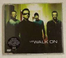 """U2 Walk On DVD UK 2001 """"Sticker"""" en portada"""