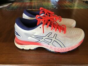 ASICS Gel-Kayano 25  Athletic Running Stability Shoes - WHITE - Womens, 6.5