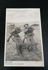 IIWK Foto AK Unser Heer Nachrichtentruppe Beim Leitungsbau SOLDATEN UNIFORM 1942