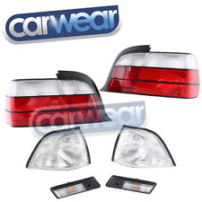 BMW E36 3-SERIES 2DR CLEAR RED OEM LOOK TAIL LIGHT INDICATOR LENSES KIT