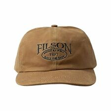 Filson Tin Cloth Low Profile Cap New Dark Tan Large