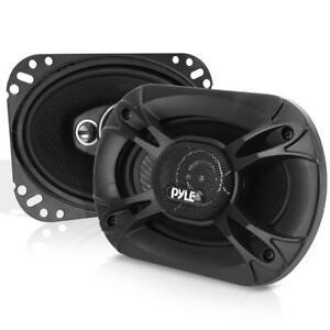 "Pyle 3-Way Universal Car Stereo Speakers 400W 6"" x 8"" Triaxial Loud Car Speakers"