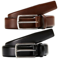 Jack & Jones Originals Leather Belt Mens Metal Pin Buckle 3cm Wide Jacchris