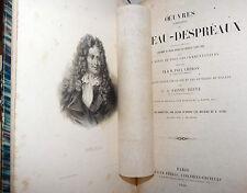 Opere Complete di Boileau Despreaux in francese 1860 Cheron Sainte-Beuve tavole