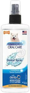 4 Oz Advanced Oral Care Dog Dental Spray Bottle For Bad Breath & Reduces Plaque