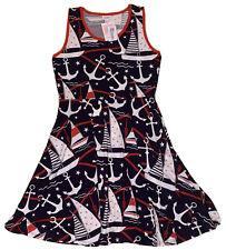 Nwt LuLaRoe Nicki Xl Tank Dress Navy Blue Sailboats Anchors Extra Large New