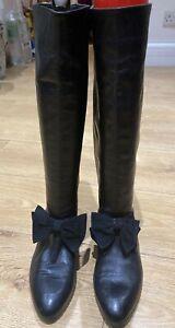 1980s Russell & Bromley Bond Street London Knee High Boots Size UK5, EU 38