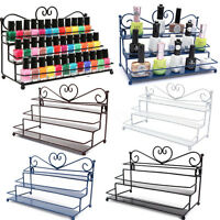 3Tier Metal Heart Makeup Nail Polish Storage Organizer Wall Rack Display Stand