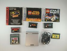 Nintendo Game Boy Advance SP AGS-001 Bundle With 5 Games