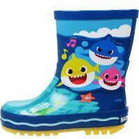 BOYS GIRLS BABY SHARK PINKFONG WELLIES WELLY WELLINGTON RAIN BOOTS SIZE 5 - 10
