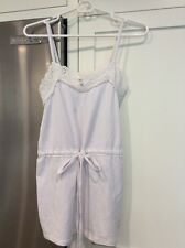 NWT Abercrombie And Fitch White Cami Top Eyelet Lace Spaghetti Strap Sz S