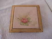 Ancien dessous de table bois et céramique