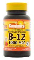 Vitamin B12 1000mcg Methylcobalamin Natural Berry Flavor 60 Tablets Each