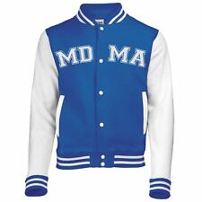 Adults Unisex Royal Blue Hip Hop MDMA Varsity Jacket Molly Mandy Top