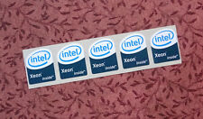 Lot of 5 Intel Xeon Inside Stickers 19 x 23mm Case Badges USA Seller