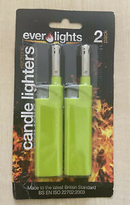 2pc Kitchen Tube Lighters Candle Long Refillable Gas Cooker BBQ Camping Lighter