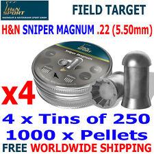 H&N SNIPER MAGNUM .22 5.50mm Airgun Pellets 4(tins)x250pcs FIELD TARGET