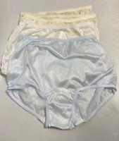 Lot of 4 Vintage Carole Silky Granny Panties Nylon Sissy Briefs Undies Size 7