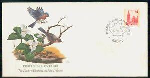 Mayfairstamps CANADA FDC 1978 COVER ONTARIO BLUEBIRD & TRILLIUM wwk43123