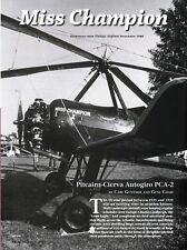 Pitcairn Cierva PCA-2 Autogiro Aircraft report 11/10/181