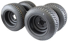 """Golf Cart Tires & Wheels 10""""  205/50-10 with 10x7 Matte Black  - Assembly of 4"""