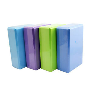 1PAIR Exercise Fitness Yoga Blocks Foam Brick Balance Pad Cushion Gym Training