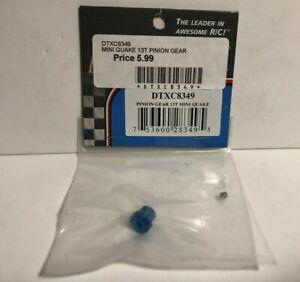 Duratrax DTXC8349 Blue Aluminum Pinion Gear 13 Tooth for Mini Quake NIP RC