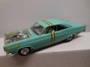 AMT Original 1967 Fairlane GT Model Screw Chassis Built As Drag Car