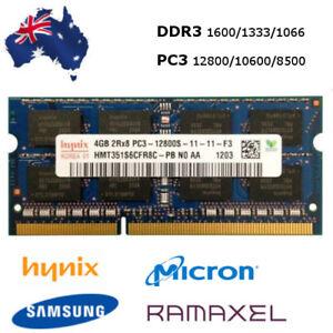 4GB DDR3 RAM Notebook 1066 1333 1600 1866 PC3 10600 12800 SoDimm Laptop Memory