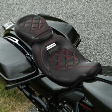 Driver Passenger Seat Two-up Low-Profile Fit For Harley Touring Road King 09-20