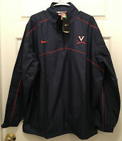 NWT Virginia UVA Cavaliers Football Team Issued Nike 1/2 Zip Logo Jacket Small