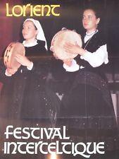 § Affiche festival Interceltique de Lorient 1986 - Bretagne, Folklore §
