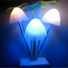 Romantic Flower Mushroom LED Night Light Sensor Baby Bed Room Lamp Decor HOT